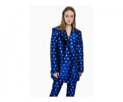 BLUE SUIT IN SILVER DOTS DOKUCHAEVA